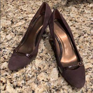 Loft brown suede kitten heel dress shoes Size 8